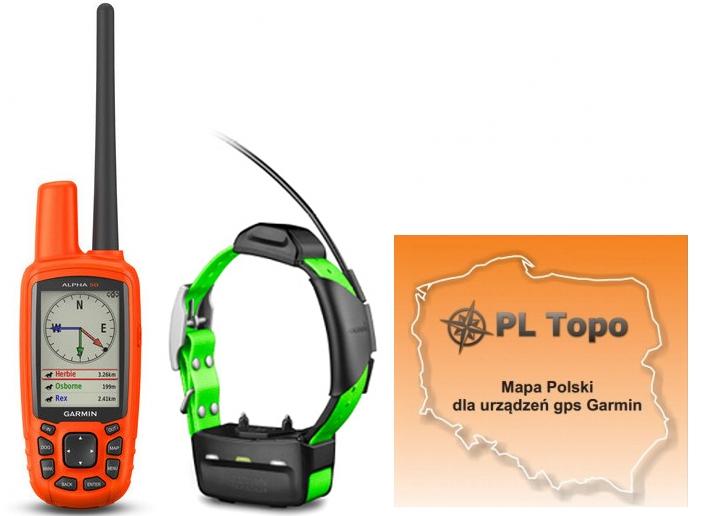 Garmin Alpha 50 z obrożą TT15 Mini + PL TOPO EU TOPO 2019.3