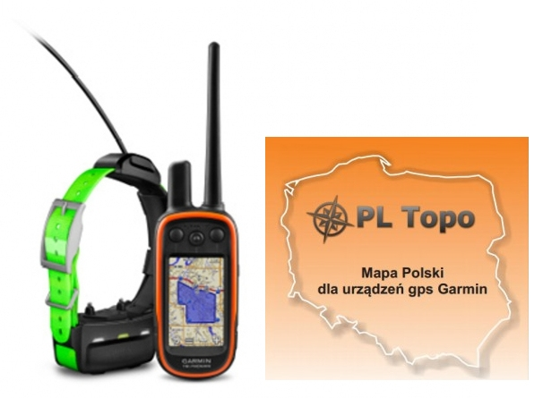 Garmin Alpha 100 z obrożą TT15 [010-01041-D2] + PL TOPO EU TOPO 2020.1