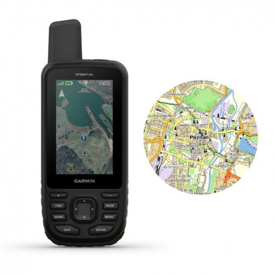 Garmin GPSMap 66s [010-01918-02] + OpenStreetMap Topo Polska