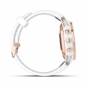 Garmin Fenix 5S Plus Sapphire, różowozłoty z białym paskiem [010-01987-07] + PL TOPO 2019.3