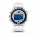 Garmin Fenix 5S Plus Sapphire, biały z białym paskiem [010-01987-01] + PL TOPO 2019.3