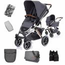 ABC Design Salsa 4 Air Asphalt wózek 2w1 + akcesoria