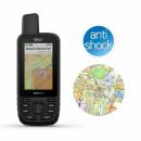 Garmin GPSMAP 66sr [010-02431-01]  + OpenStreetMap Topo Polska + Folia ochronna Gllaser 5h
